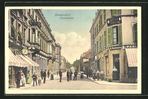 AK Saargemünd, Blick in die Kapellstrasse