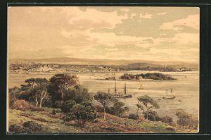 Künstler-AK Themistokles von Eckenbrecher: Plymouth, Panorama