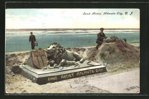 AK Atlantic City, NJ, Sand Artists