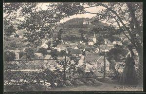 AK Muggendorf, Ortspanorama vom Park aus gesehen