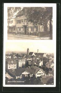 AK Bad Wörishofen, Hotel-Pension Villa Berninger, Totalansicht