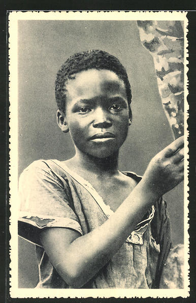 AK Congo, Un jeune Congolais de Kisantu, afrikanische Volkstypen