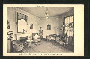 AK Frankfurt, Carlton-Hotel, Privat-Salon