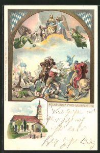 Lithographie München-Sendling, Mord -Weihnacht 1707