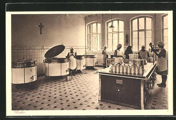 AK Kiedrich, St. Valentius-Haus, Küche