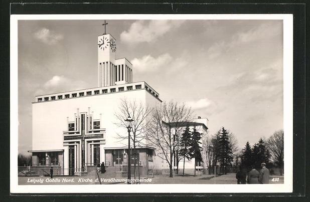 AK Leipzig, Kirche d. Versöhnungsgemeinde im Bauhaus-Stil
