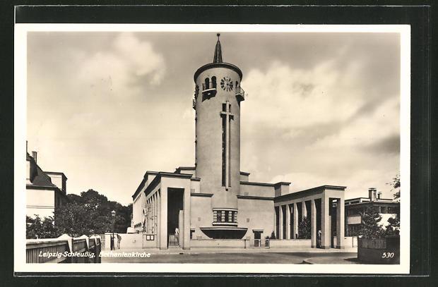 AK Leipzig-Schleussig, AN der Bethanienkirche, Bauhaus
