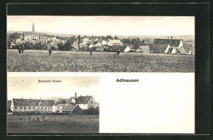 AK Adlhausen, Totalansicht, Brauerei Kraus