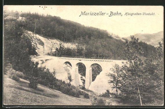 AK Mariazeller Bahn, Am Heugraben-Viadukt