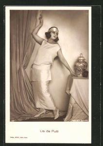 AK Lia de Putti, ausdrucksstarkes Portrait der Schauspielerin