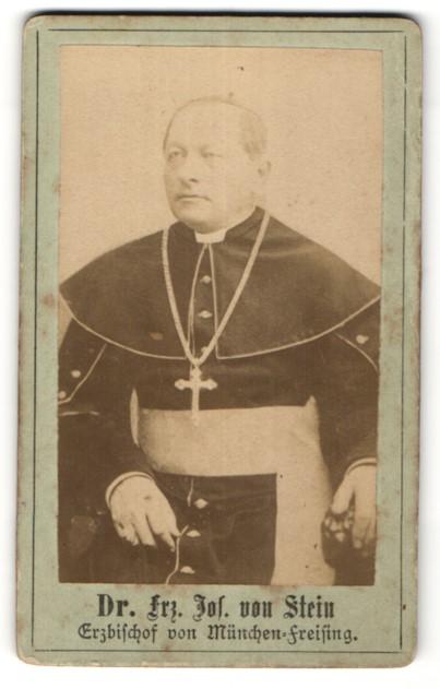 Fotografie Portrait Dr. Frz. Jos. von Stein, Erzbischof von München-Freising
