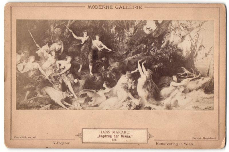 Fotografie Gemälde Jagdzug der Diana nach Hans Makart