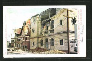 AK San Francisco, Cal., Masonic Temple after the earthquake, durch Erdbeben zerstörte Freimaurerloge