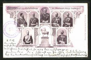 AK Regensburg, Erinnerung an die Enthüllung des Denkmal König Ludwig I. 1902