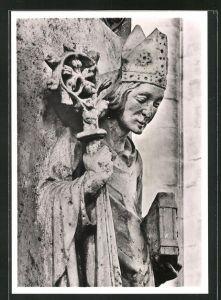 Foto-AK Deutscher Kunstverlag, Walter Hege Nr. 2: Bamberg, Dom, Bischof Friedrich von Hohenlohe 1351