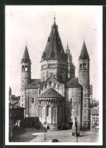 Foto-AK Deutscher Kunstverlag, Walter Hege Nr. 24: Mainz, Dom von Osten betrachtet