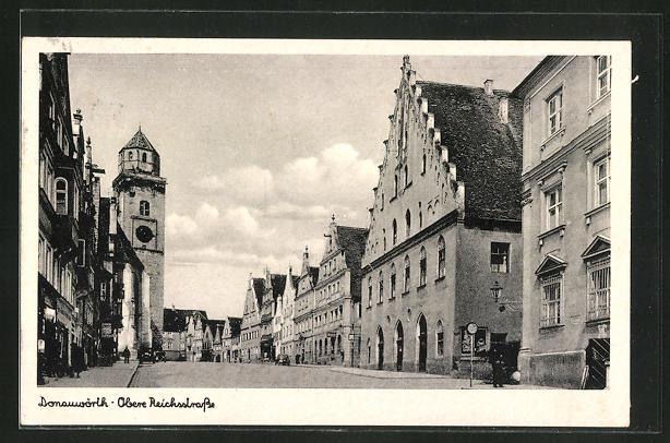 AK Donauwörth, Blick in die Obere Reichsstrasse