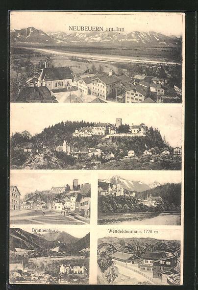 AK Neubeuren am Inn, Brannenburg, Wendelsteinhaus, Strassenpartie, Ortsansichten