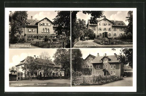 AK Neuendettelsau, Haushaltungsschule, Feierabendhaus I, Kindergärtnerinnen-Seminar