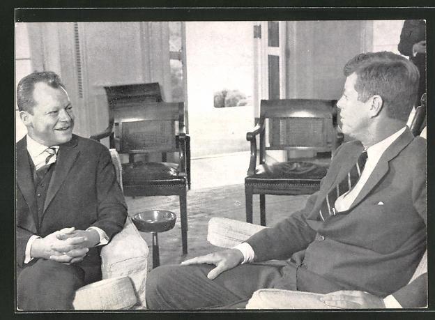 AK Berlin, Präsident Kennedy zu Besuch bei Kanzler Brandt