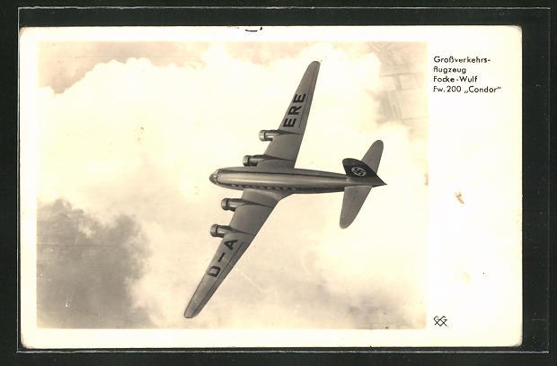 AK Grossverkehrsflugzeug Focke Wulf Fw. 100 Condor