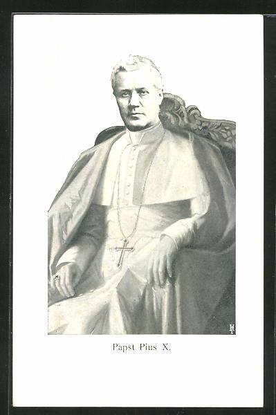 AK Papst Pius X. auf dem heiligen Stuhl