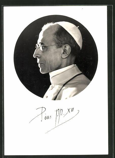 AK Profil-Portrait von Papst Pius XII.