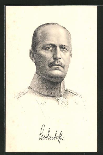 Künstler-AK Generalleutnant Erich von Ludendorff