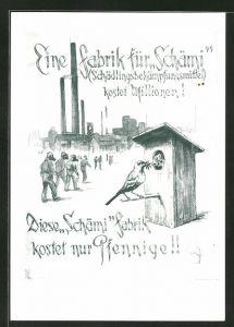 Künstler-AK Heinz Geilfus: Eine Fabrik für