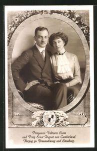 AK Prinzessin Viktoria Luise und Ernst August Herzog von Braunschweig