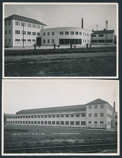 2 Fotografien Fotograf unbekannt, Ansicht Altenmarkt / Alz, Fabrikgebäude der Firma Alzmetall