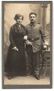 Fotografie Rudolf Fleischer, Delitzsch, deutscher Soldat in Feldgrau mit Pickelhaube und Orden EK II