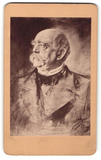 Fotografie Portrait Reichskanzler Otto von Bismarck
