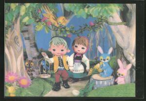3D-AK Hänsel und Gretel im Wald, Puppen