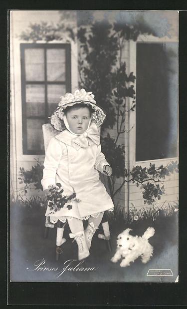 AK Prinzessin Juliana von den Niederlanden als Kind