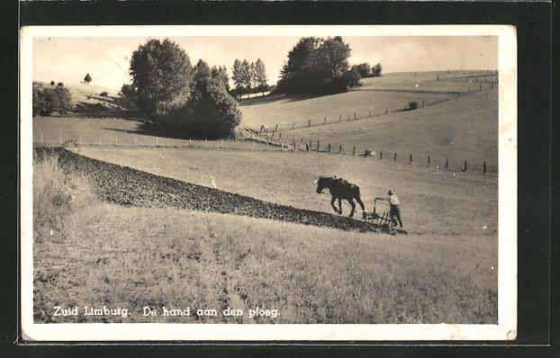 AK Zuid Limburg, De hand aan den ploeg, Pferdepflug