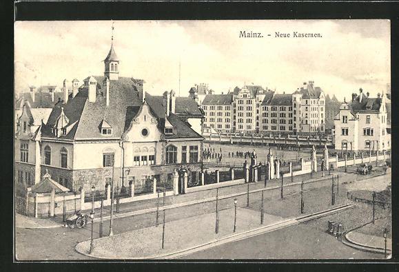 AK Mainz, Blick auf die neuen Kasernen