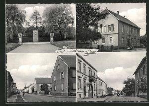 AK Webenheim / Saar, Einfahrt, Gebäudeansicht, Strassenpartien mit Centra