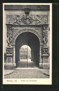 AK Wismar / M., Portal vom Fürstenhof