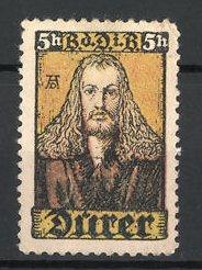 Künstler-Reklamemarke Portrait von Albrecht Dürer