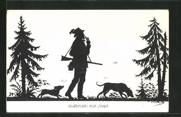 Künstler-AK Friedrich Kaskeline: Aufbruch zur Jagd