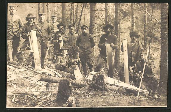 AK Forstarbeiter im Wald