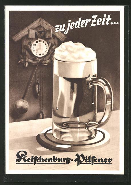 AK Brauerei-Werbung für das Ketschenburg-Pilsener