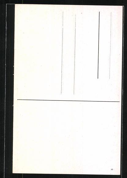 Künstler-AK M. Müller jun.: Rehe beobachten eine Postkutsche 1