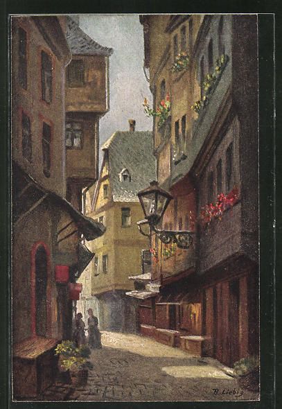 Künstler-AK Bernhard Liebig: Frankfurt a. M., In der Schirne