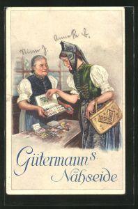 Künstler-AK Curt Liebich: Gütermann's Nähseide, Reklame