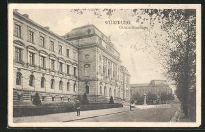 AK Würzburg, Ansicht vom Universitätsgebäude
