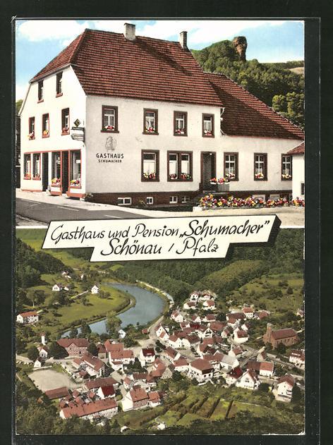 AK Schönau / Pfalz, Gasthaus und Pension