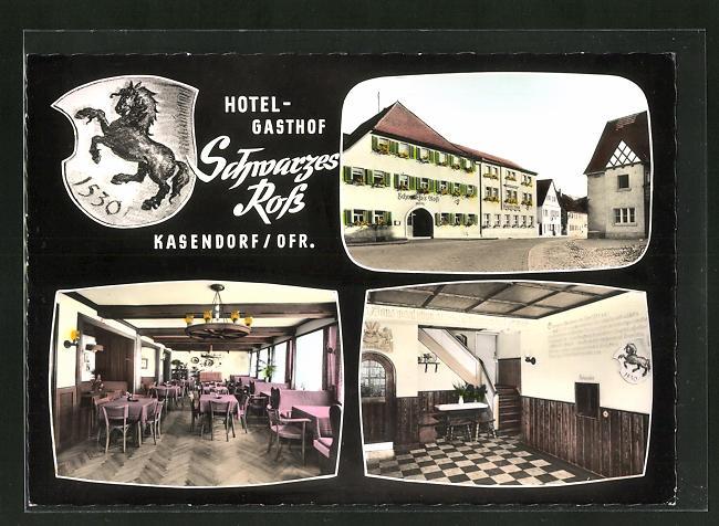 AK Kasendorf / Ofr., Hotel-Gasthof Schwarzes Ross, Innenansichten 0