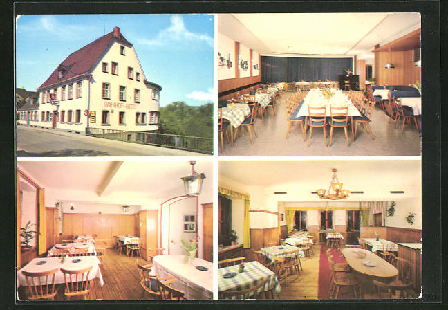 AK Winnweiler / Pfalz, Bahnhof-Hotel von H: Engel 0